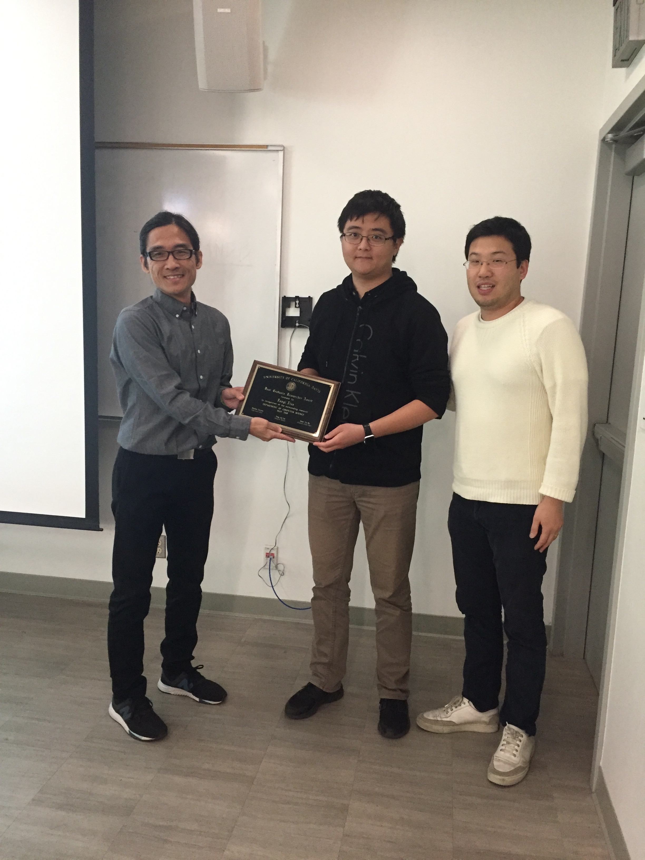 Congratulations to PhD student Fanyi Xiao for winning the Best Graduate Researcher in Computer Science 2018 award.